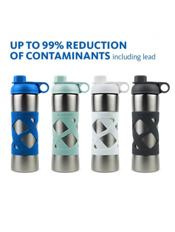 500ML STAINLESS STEEL INSULATED CLEAN WATER BOTTLE - BLUE