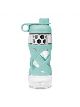 650ML PLASTIC FILTER BOTTLE WITH SLEEVE  - GLACIER