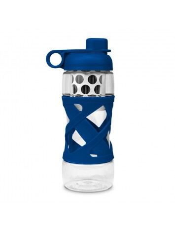 650ML PLASTIC FILTER BOTTLE WITH SLEEVE  - NAVY